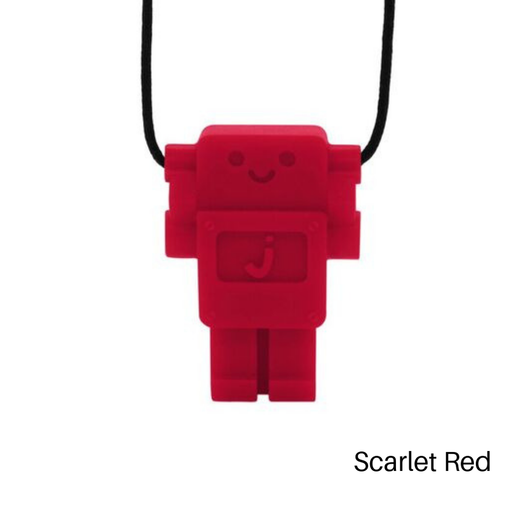 Robot Chewable Silicone Pendant - Red