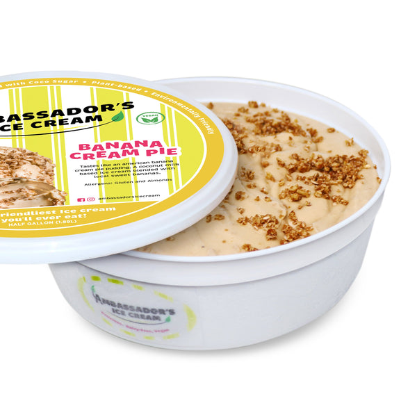 Banana Cream Pie Half Gallon - Go! Salads Grocer
