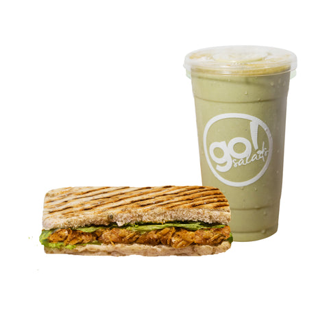 Healthy Panini and Green Smoothie Combo - Go! Salads Grocer