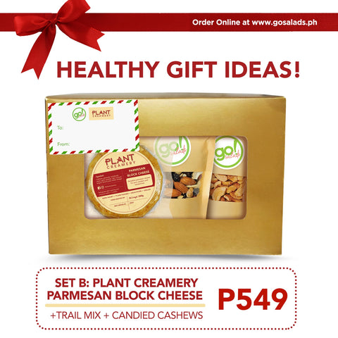 Plant Creamery Parmesan Block Cheese Gift Box - Go! Salads Grocer