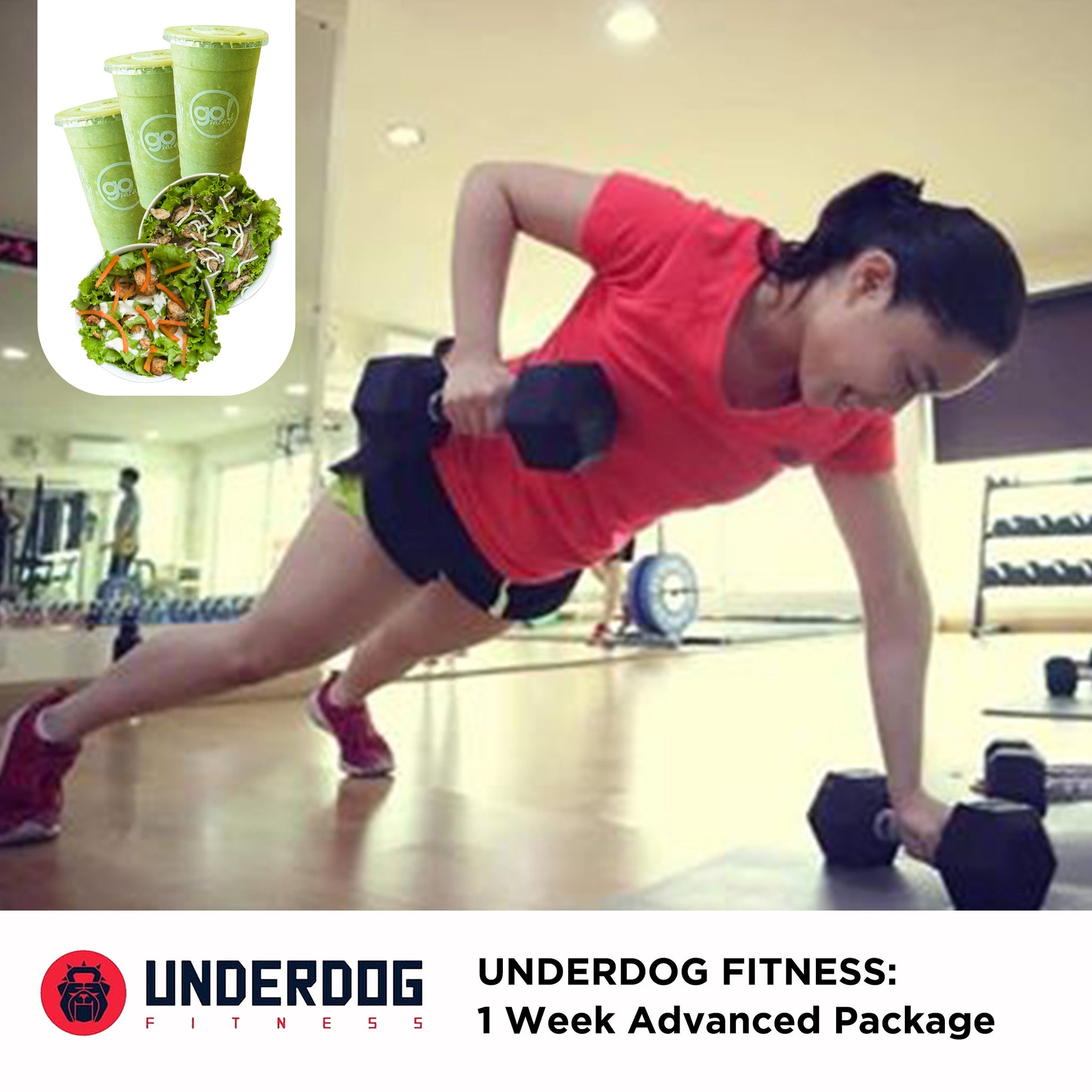 P2,399 worth of 3 personalized work-out programs and unlimited 1 week consultation with FREE delivery of 3 Smoothies and 2 Farm Fresh Salads - Go! Salads Grocer