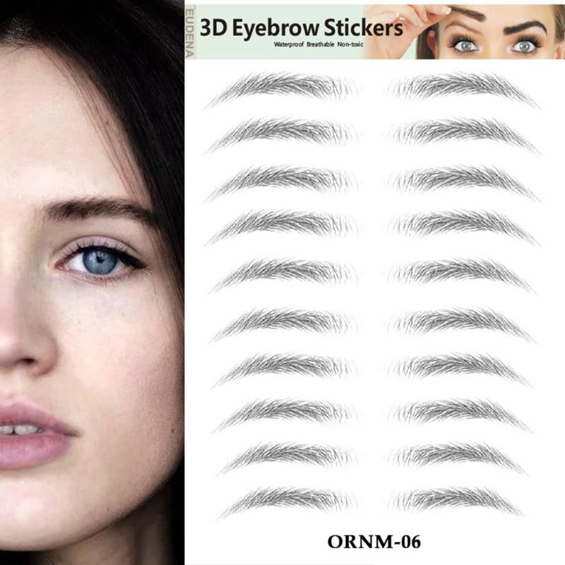3D Hair-like Eyebrow Stickers