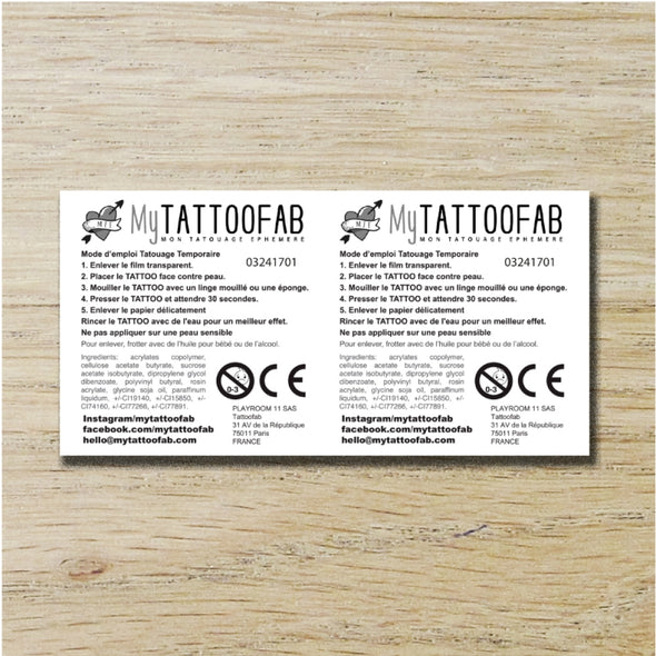 TEMPORARY TATTOO 5x10cm