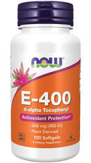 Now Foods E-400 IU D Alpha Tocopherol-100 Gel