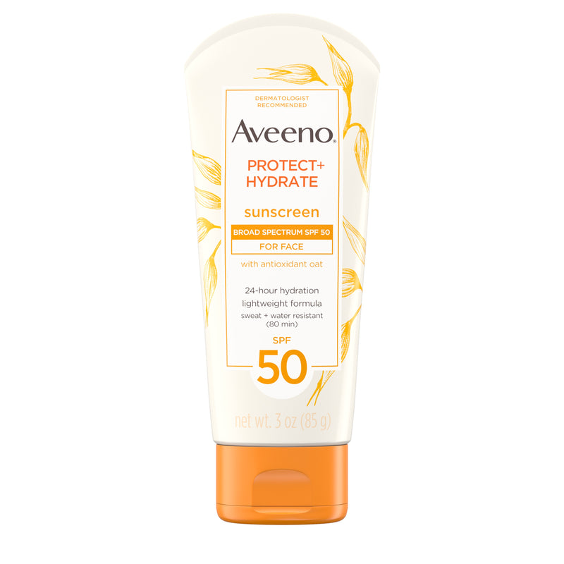 Aveeno SPF 50 Sunscreen Protect Plus Hydrate Lotion, 3oz
