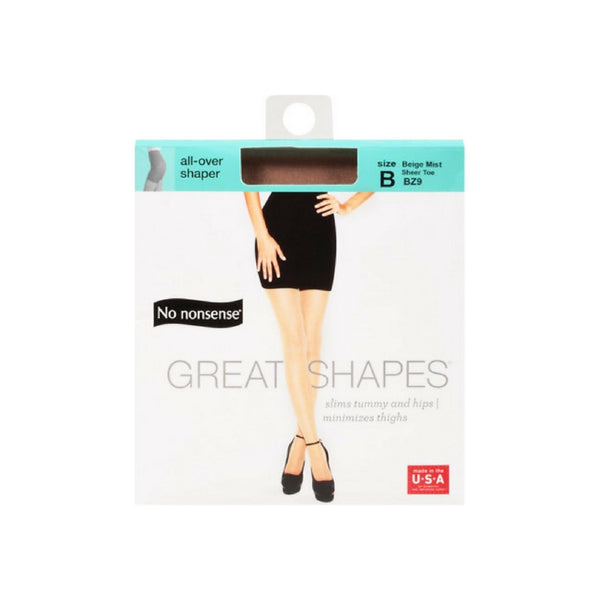 No Nonsense Great Shapes Body Shaping Pantyhose Size B, Beige Mist 1 ea