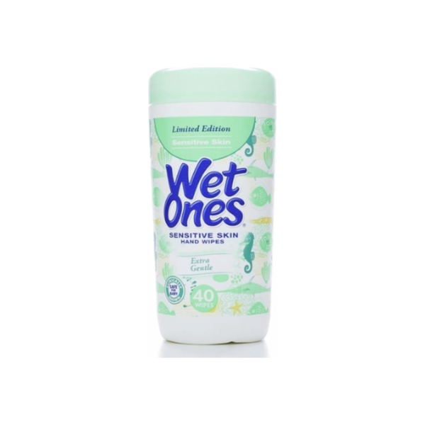 WET ONES Sensitive Skin Moist Wipes Extra Gentle 40 Each