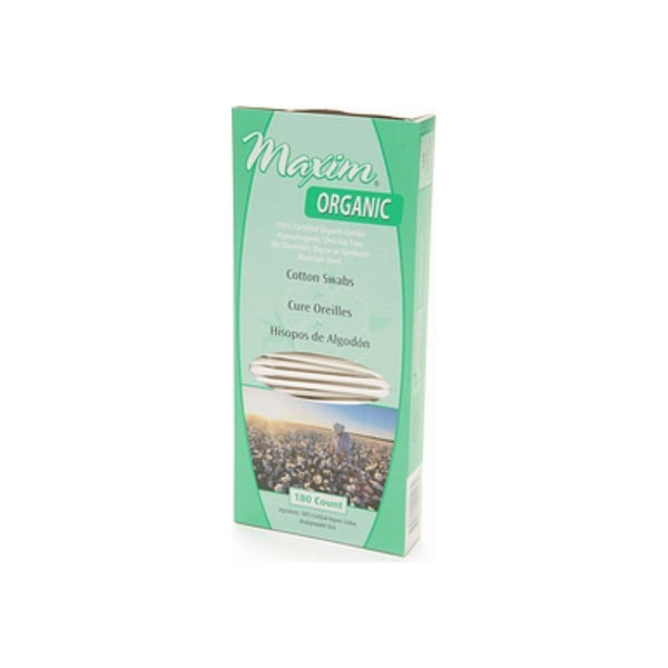 Maxim Hygiene Products Organic Cotton Swabs 180 ea