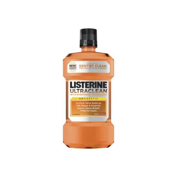 Listerine Ultraclean Antiseptic Mouthwash, Fresh Citrus 1000 mL