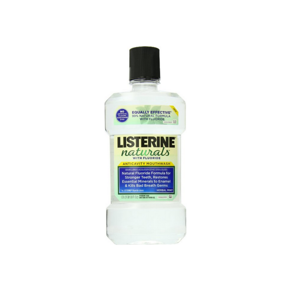 Listerine Naturals Fluoride Anticavity Mouthwash Herbal Mint, 33.8 oz