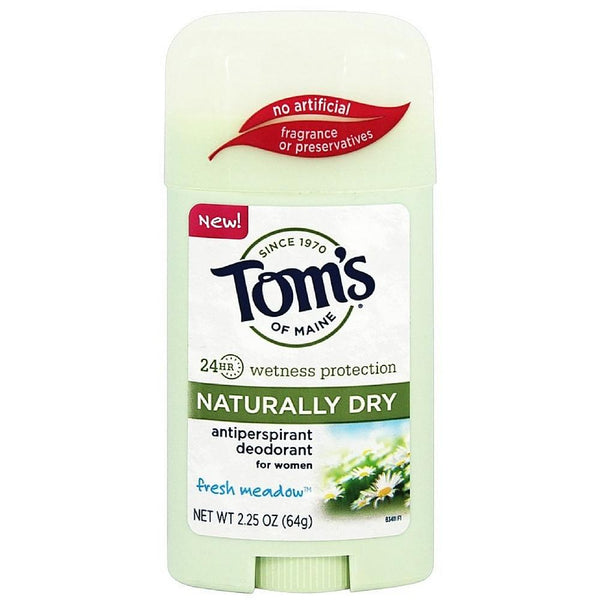 Tom's of Maine Naturally Dry Antiperspirant Deodorant for Women, Fresh Meadow 2.25 oz