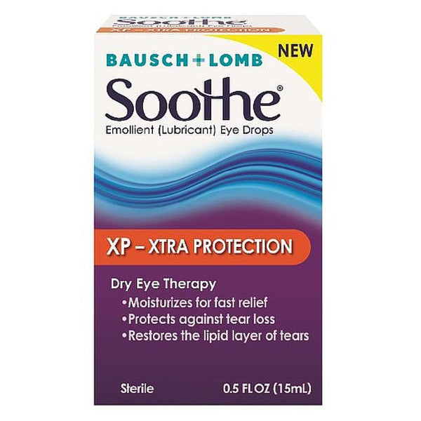 Bausch & Lomb Soothe XP Emollient Lubricant Eye Drops Xtra Protection with Restoryl 0.50 oz