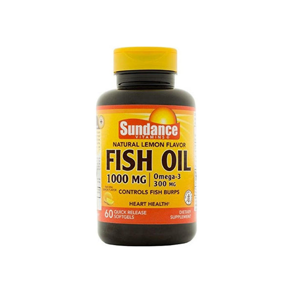 Sundance Fish Oil Supplement 1000 Mg, Lemon 60 ea