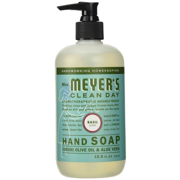 Mrs. Meyers Clean Day Hand Soap, Basil 12.50 oz