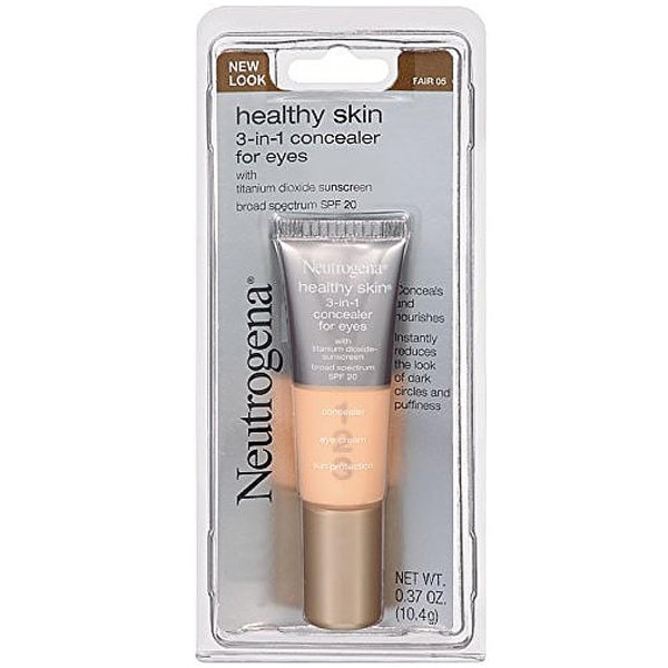 Neutrogena 3-in-1 Concealer For Eyes, SPF 20, Fair [05] 0.37 oz