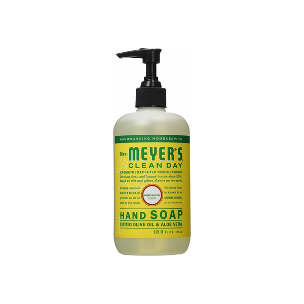 Mrs. Meyers Clean Day Hand Soap, Olive Oil & Aloe Vera, Honeysuckle 12.5 oz