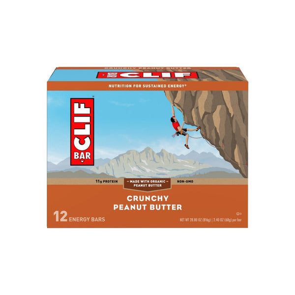 Clif Builder's Protein Bar, 2.4 oz Bars, Crunchy Peanut Butter, 12 ea