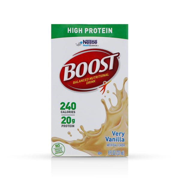 Boost Very Vanilla High Protein Drink, 8 Fluid Ounce - 27 per case