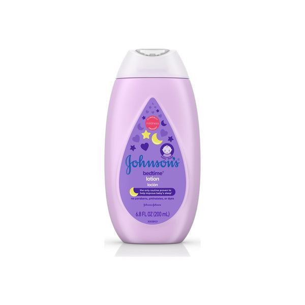 Johnson's Bedtime Baby Lotion with NaturalCalm Essences, Hypoallergenic & Paraben Free 6.8 oz