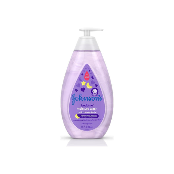 JOHNSON'S Tear-Free Bedtime Baby Moisture Wash with Soothing NaturalCalm Aromas, 27.1 oz