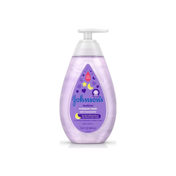 JOHNSON'S  Tear-Free Bedtime Baby, Moisture Wash with Soothing 		 13.6 oz