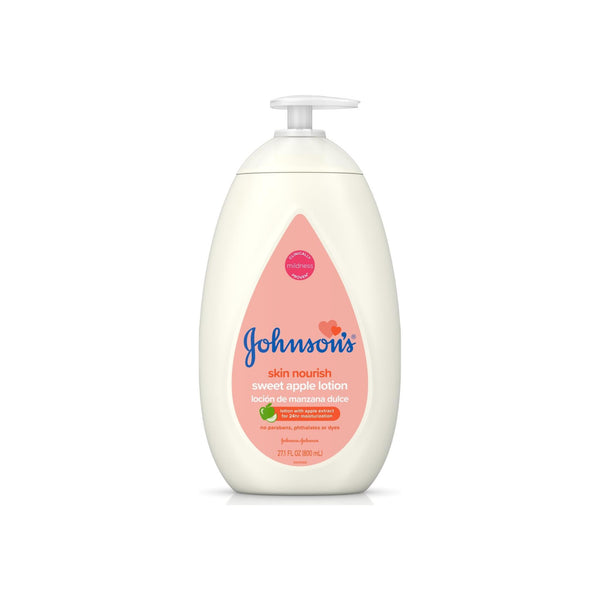 JOHNSON'S Moisturizing Baby Lotion with Honey & Apple, Hypoallergenic  27.1 oz