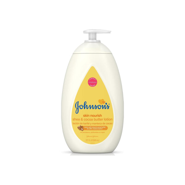 JOHNSON'S Mositruizing Dry Skin Baby Lotion with Shea & Cocoa Butter 27.1 oz