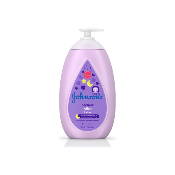Johnson's Bedtime Baby Lotion with NaturalCalm Essences, Hypoallergenic & Paraben Free, 27.1 oz