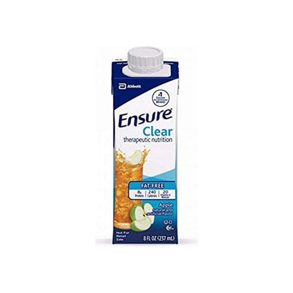 Ensure Clear Apple, 8 oz bottles, (Case of 24)