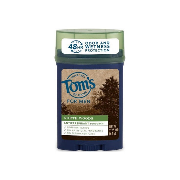 Tom's of Maine North Woods Men's 48-Hour Natural Anti-perspirant Deodorant, 2.25 oz 1 ea