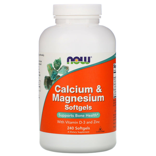 Now Foods Calcium and Magnesium Softgels - 240 Softgels