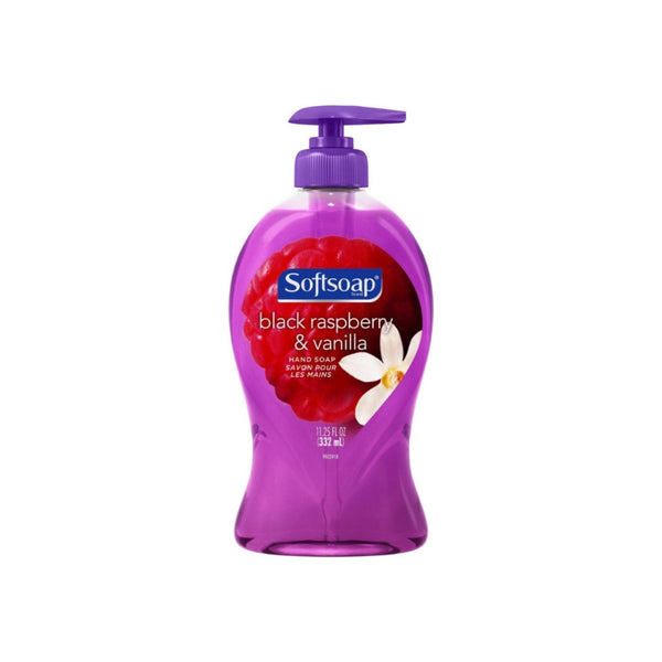 Softsoap Liquid Hand Soap Pump Black Raspberry and Vanilla, 11.25 oz