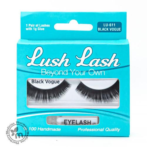 Lush Lash Eyelashes Black Vogue 611