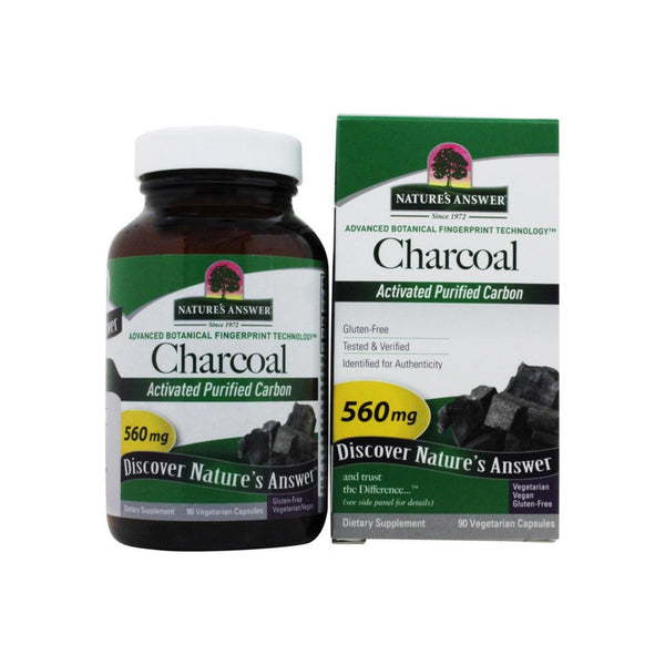Nature's Answer Activated Charcoal Natural Origin Vegetarian Capsules 90 ea