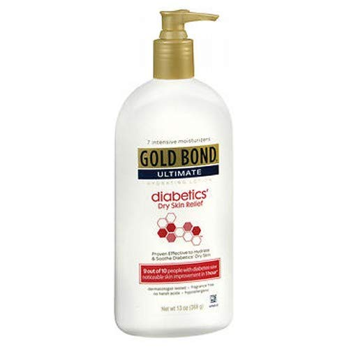 Gold Bond Ultimate Diabetic Skin Relief Lotion, Fragrance Free 13 Oz