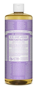 Dr. Bronner's Magic Soaps Pure-Castile Soap 18-in-1 Hemp Lavender 32-Ounce