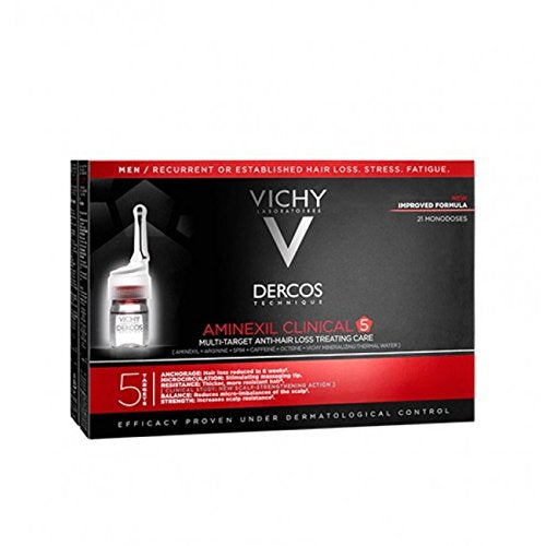 Vichy Dercos Aminexil Clinical 5 Targets Men - 21 Ampoules