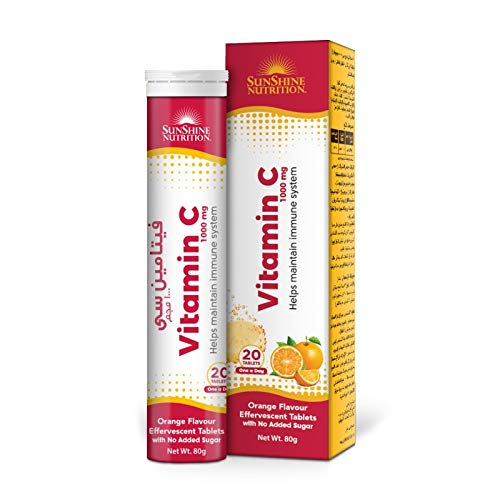 Sunshine Nutrition Vitamin C 1000mg Orange Flav Efferv Tablets