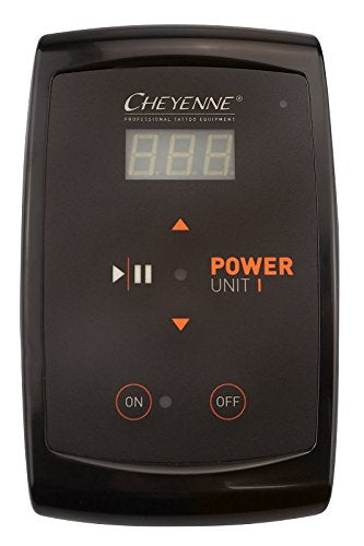 Cheyenne Tattoo Machine Power Supply PU1 - Single Output, Touch Screen, Digital Display - Tattoo Machine Battery Pack - Tattoo Machine Supplies