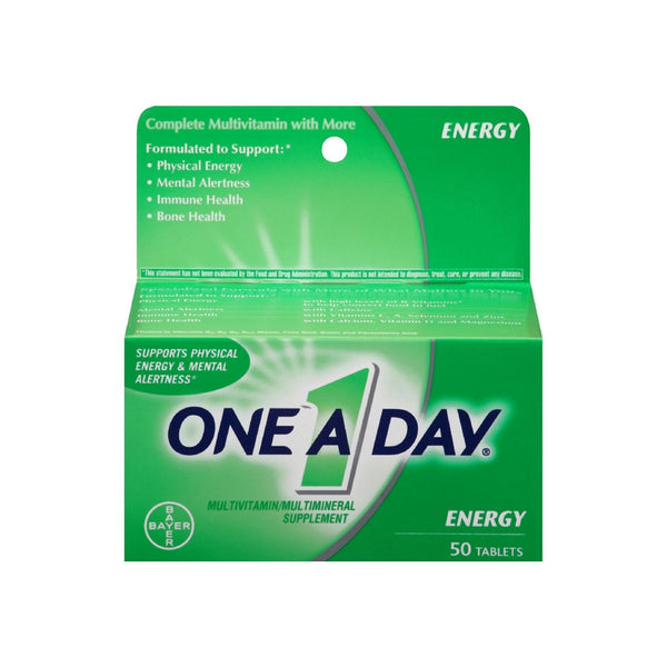 One-A-Day All Day Energy Tablets 50 Tablets
