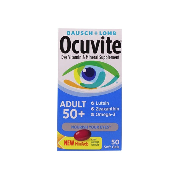 Bausch & Lomb Ocuvite Adult 50+ Eye Vitamin & Mineral Softgels 50 ea