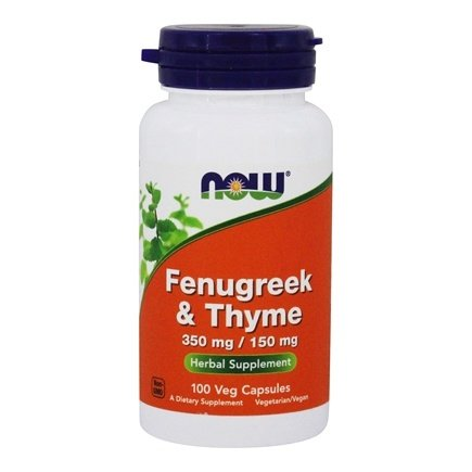 Now Foods Fenugreek and Thyme, 100 Cap