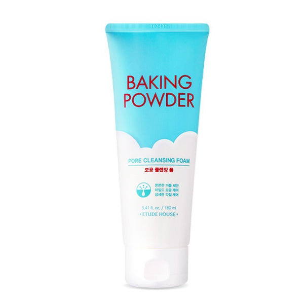 ETUDE HOUSE Baking Powder Pore Cleansing Foam 160ml | Multi-Deep Cleansing Foam to Remove Dead Cells, Impurities From Pores and Cleanse Away Makeup