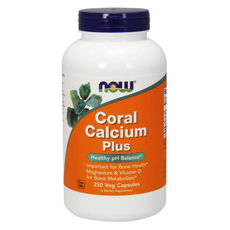 NOW Supplements, Coral Calcium Plus, Bone Health*, Healthy pH Balance*, 250 Veg Capsules