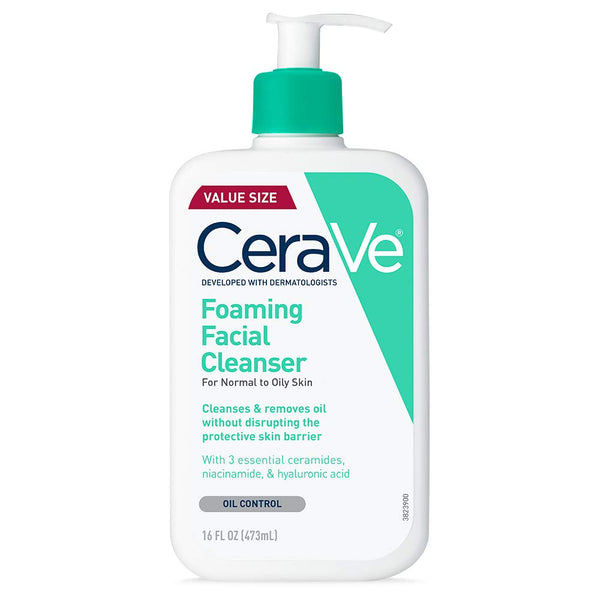 CeraVe Foaming Facial Cleanser, 16 Fl Oz