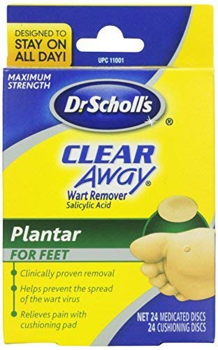 Dr. Scholl's Clear Away Wart Remover, Maximum Strength, Plantar for Feet - 24 ct