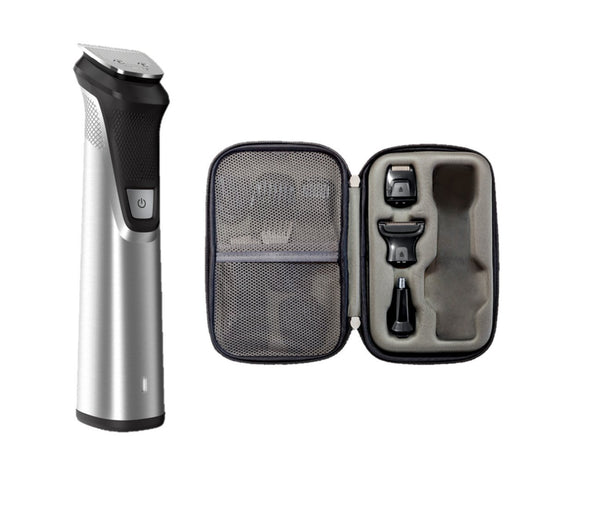 Philips Norelco Multigroom All-in-One Trimmer Series 9000, 25 pieces and premium case - No Blade Oil Needed, MG7770/49