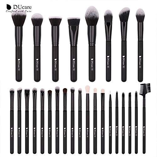 Eyeshadow Powder Professional Goat Hair Brushes for Makeup Cosmetic Tools Kit -27 Pcs