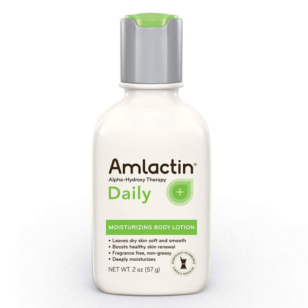 AmLactin Alpha-Hydroxy Therapy Moisturizing Body Lotion for Dry Skin, Fragrance-Free, 2 Ounce