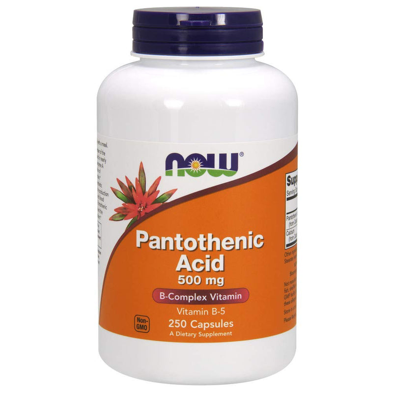 NOW Supplements, Pantothenic Acid 500 mg, 250 Capsules